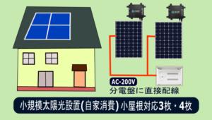 小規模太陽光発電設備-自家消費